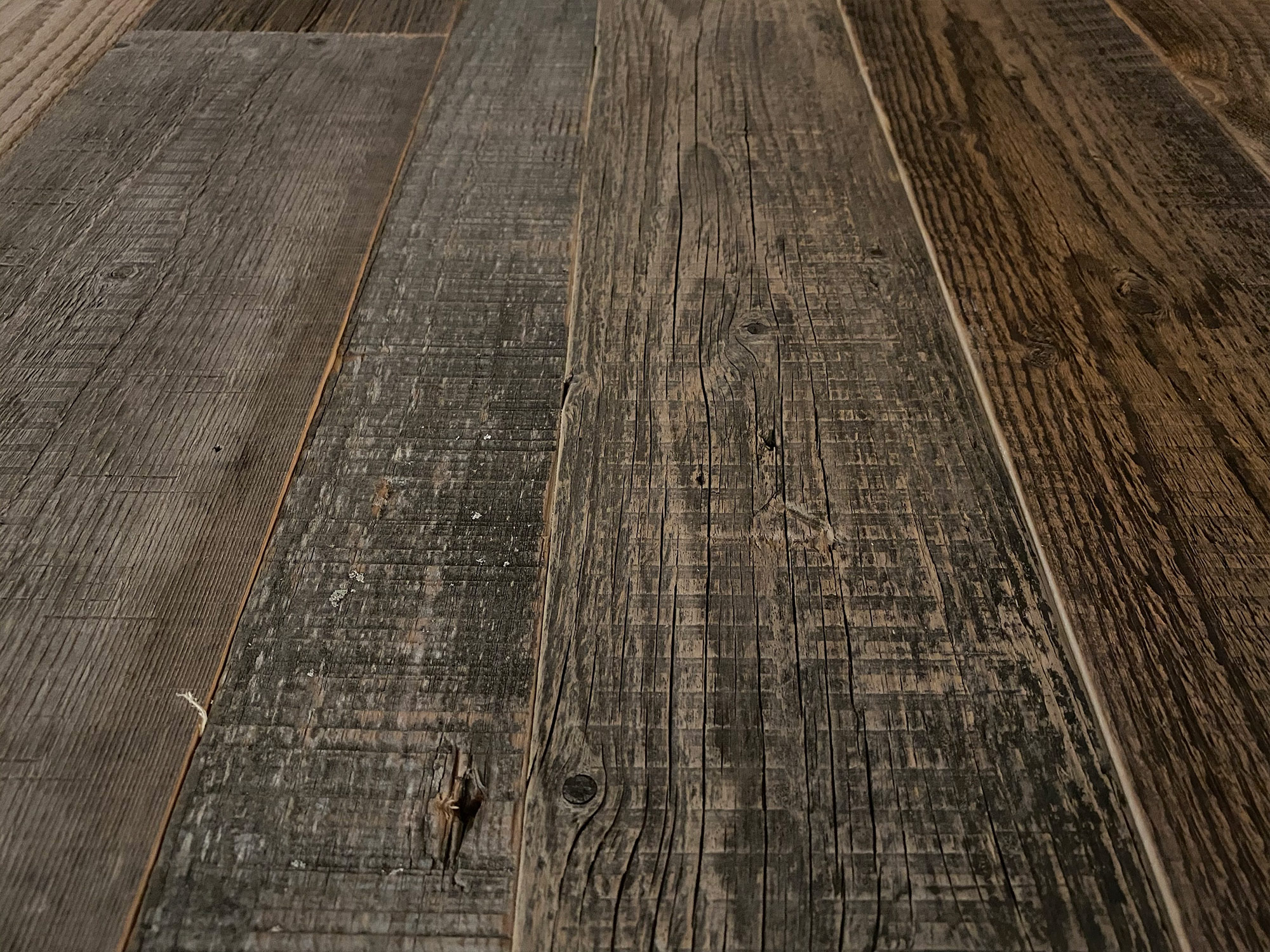 Wood cladding samples