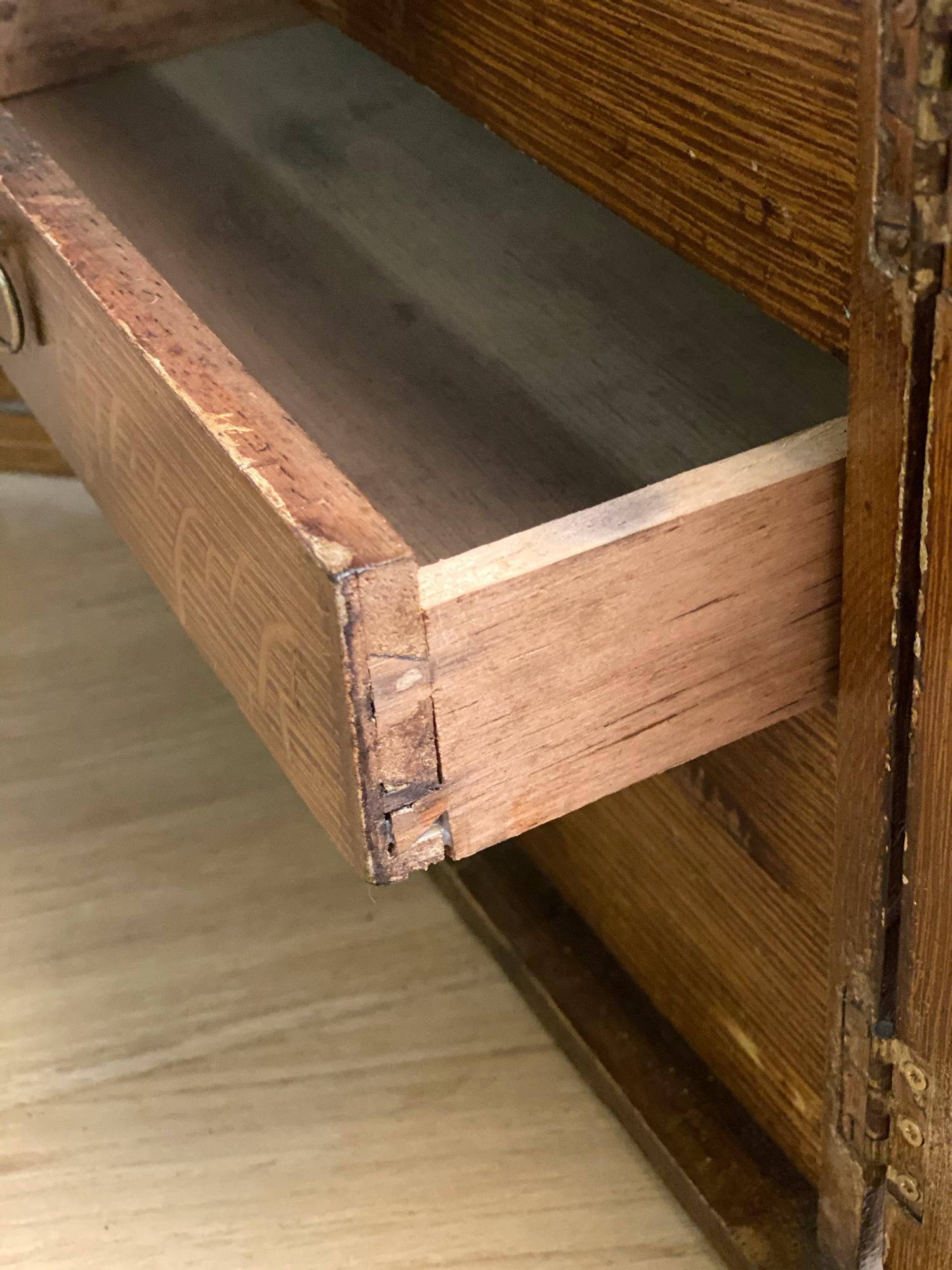 Original dovetail on drawer