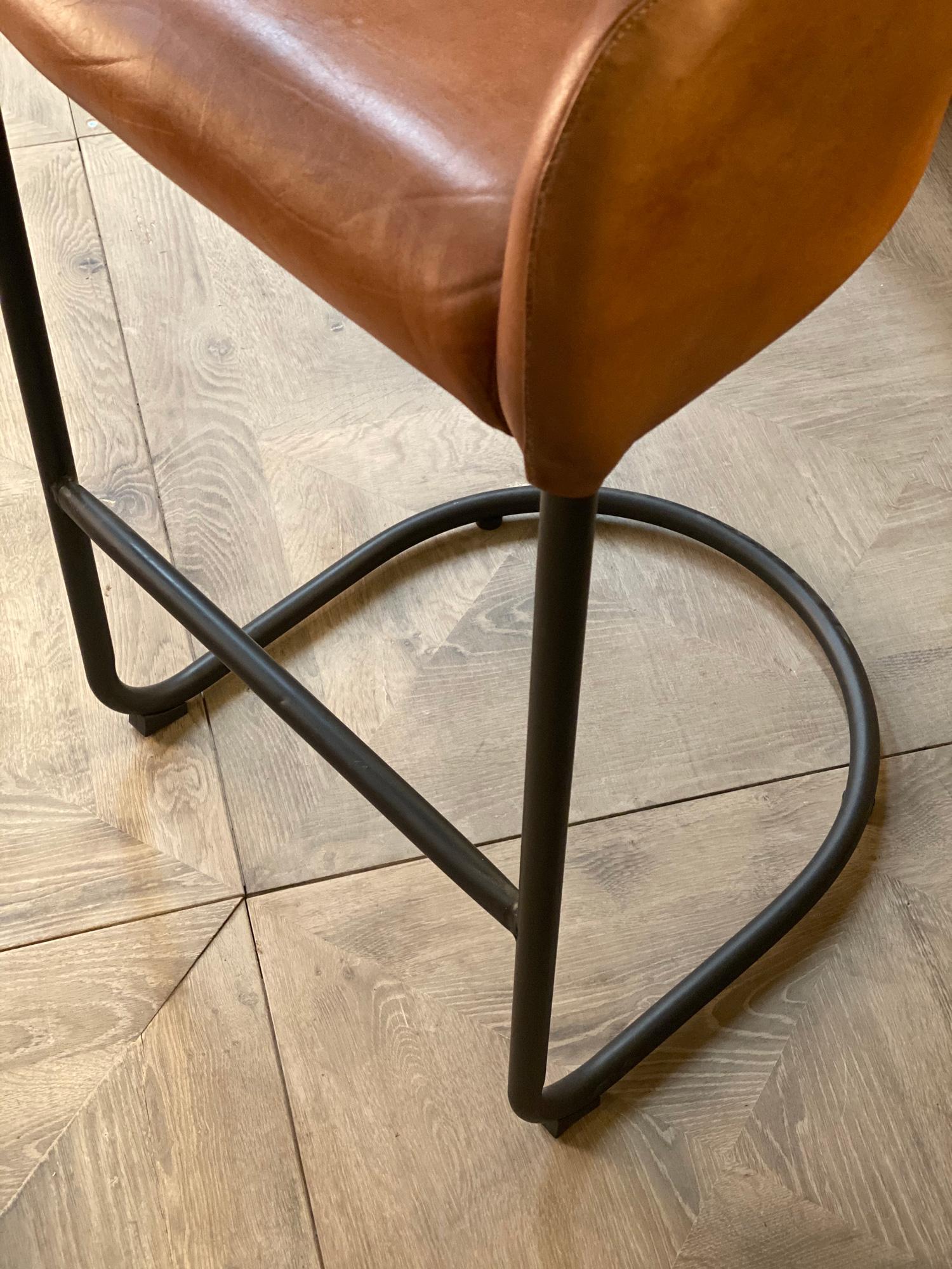 Powder coated black metal bar stool legs