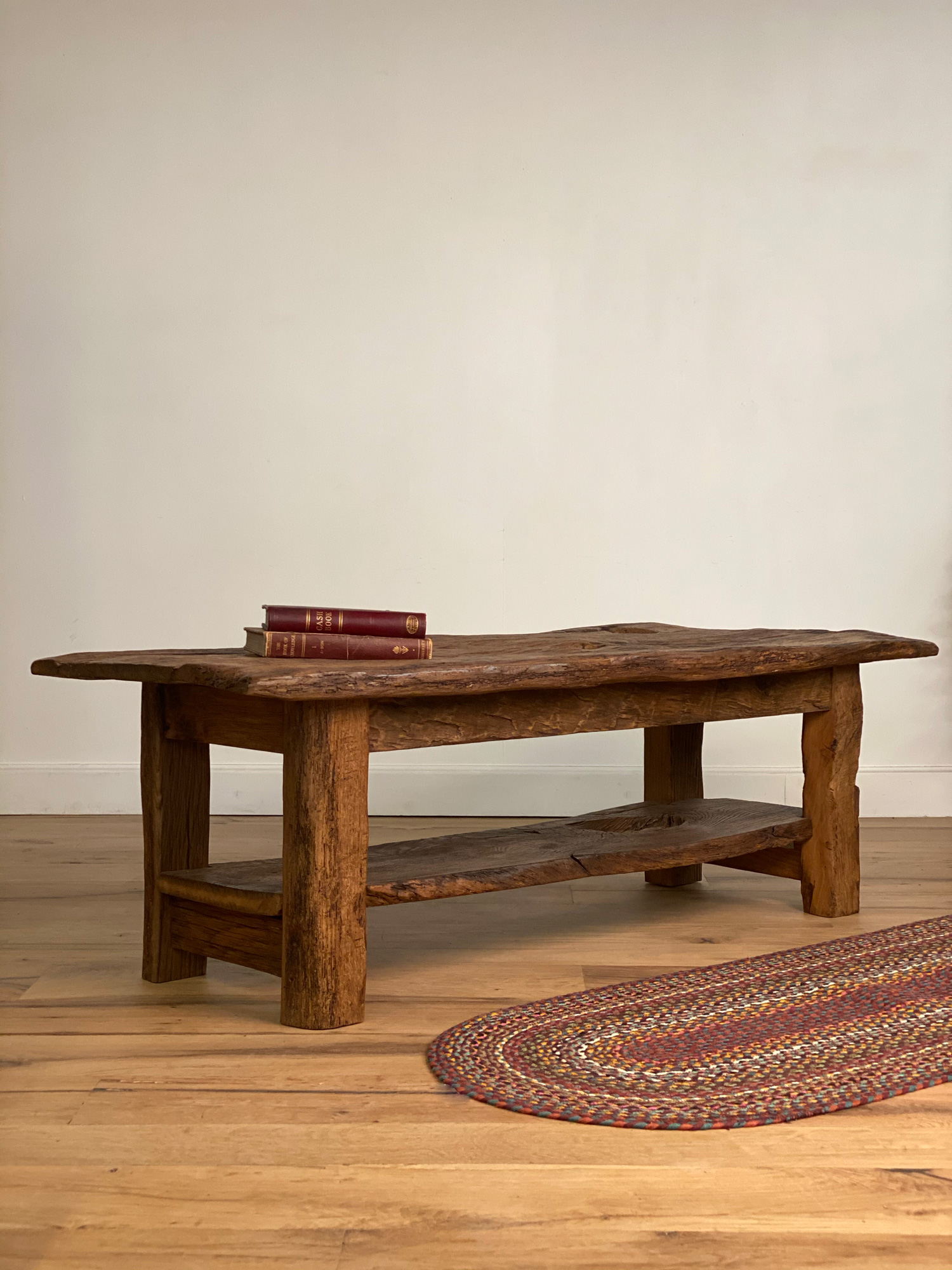 Coffee Table with Rug and Books