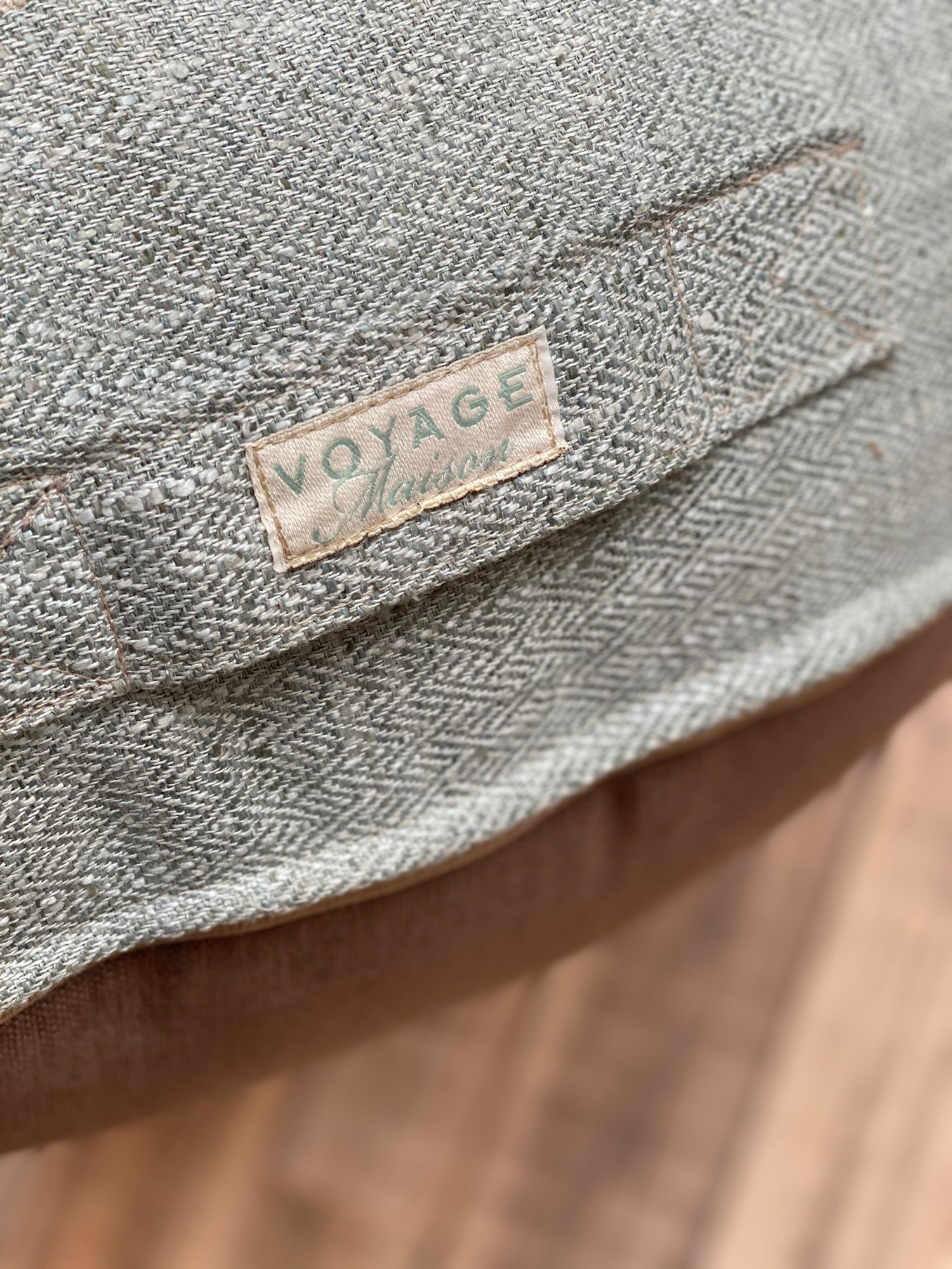 Voyage Edmuir Sorbet Floor Cushion close up