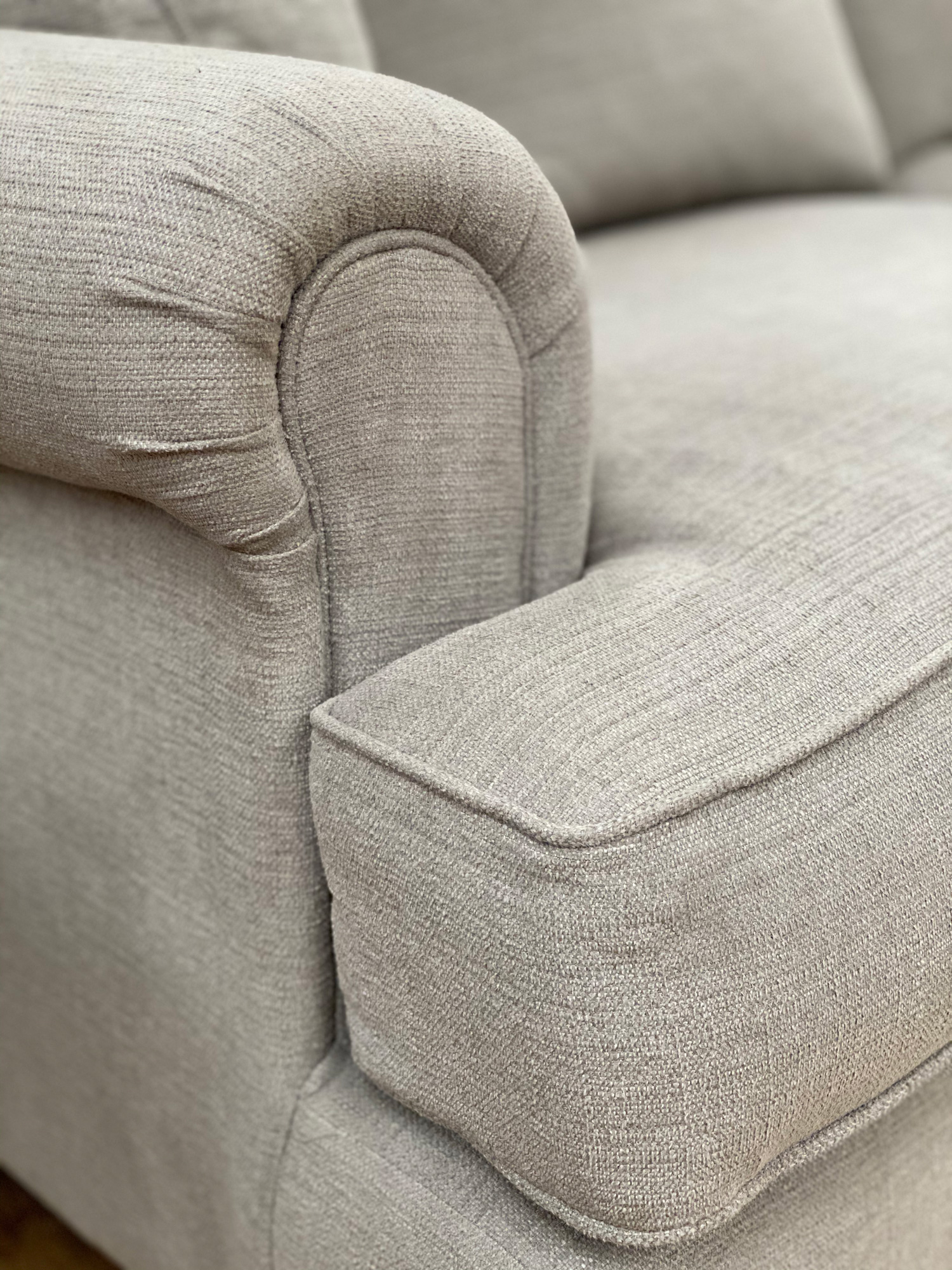 Voyage Grey Sofa arm detail