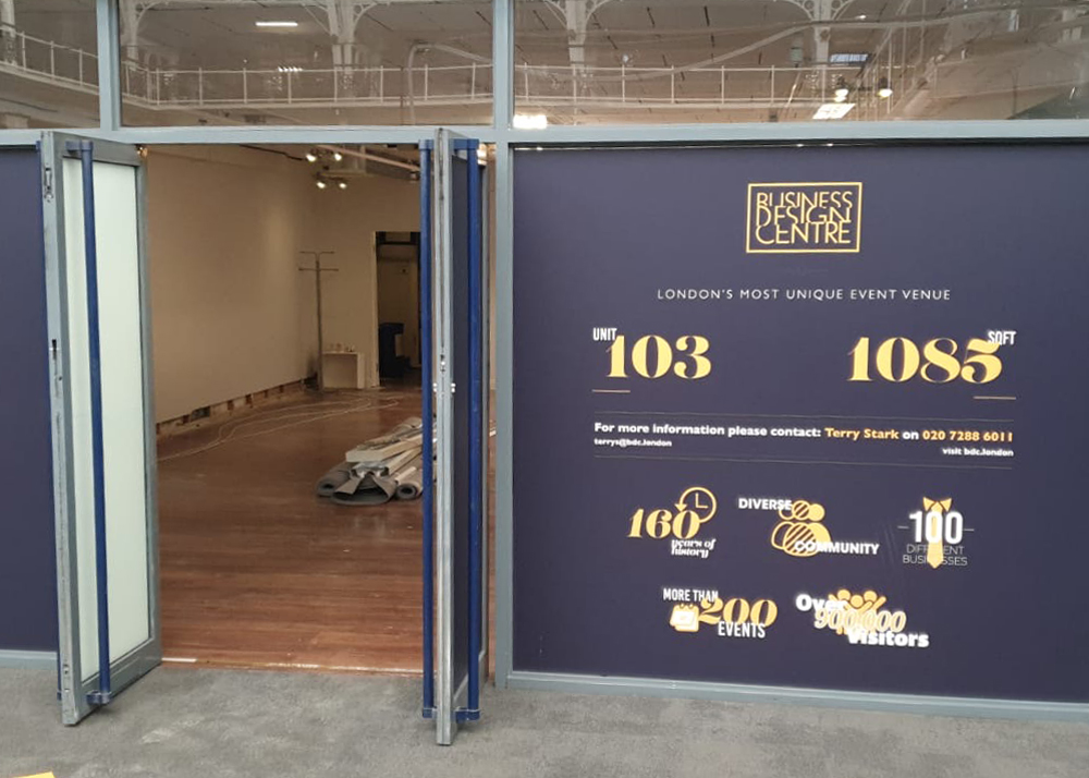 Doors open on suit 103 at the business design centre London