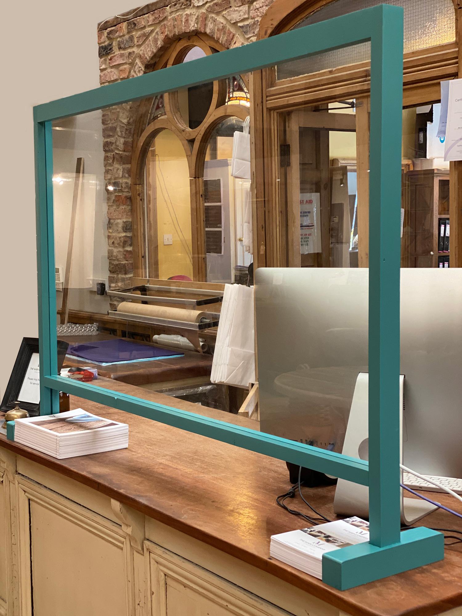 COVID-19 bespoke glass counter screen