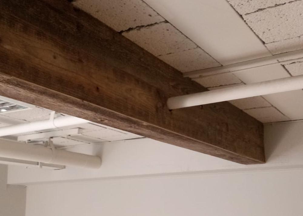 Faux rustic beam