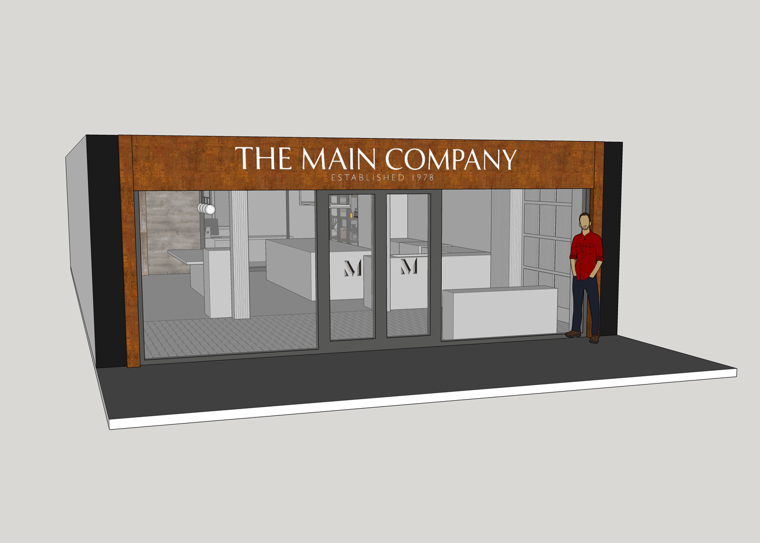 Visual of the London Showroom storefront