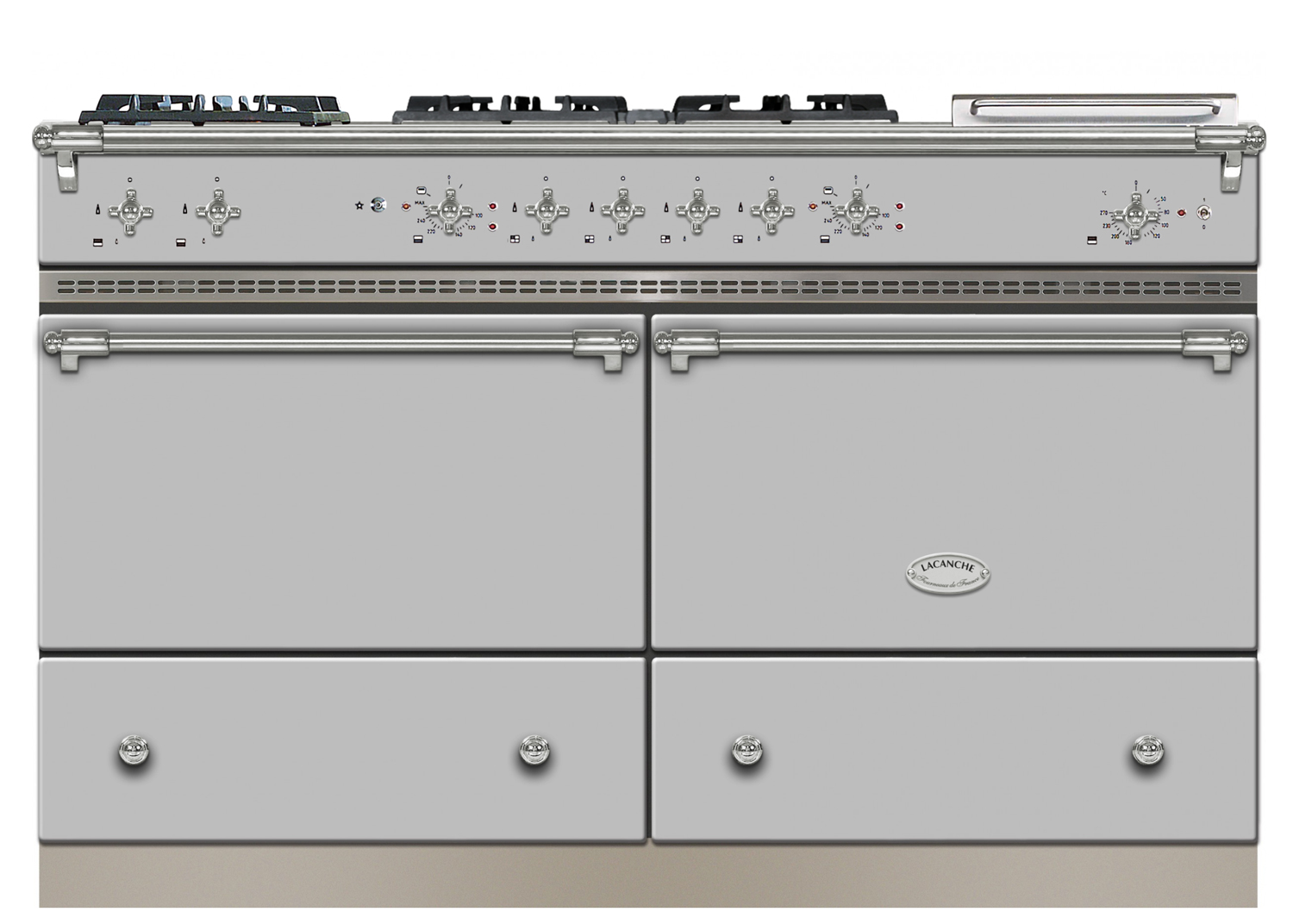 Stainless steel Lacanche range cooker