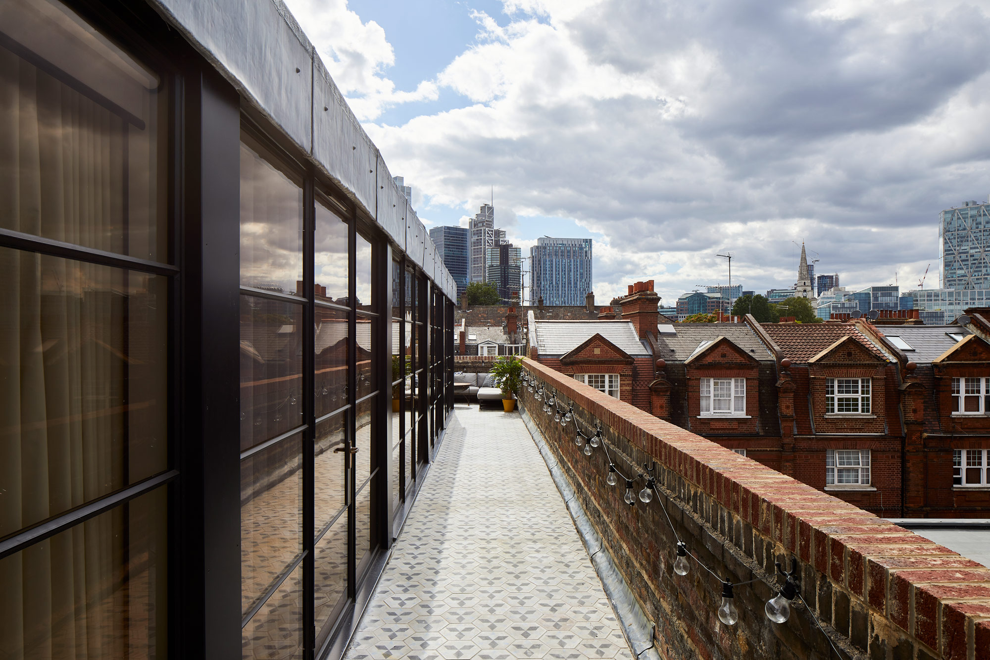 Crittall doors on top of London skyline