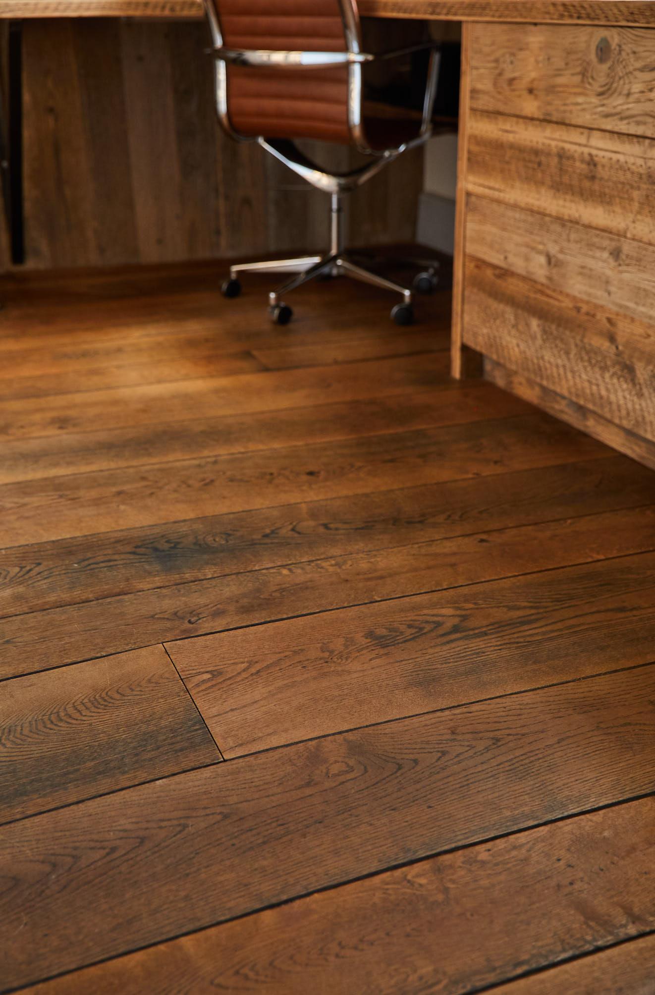 Antique smokehouse oak flooring