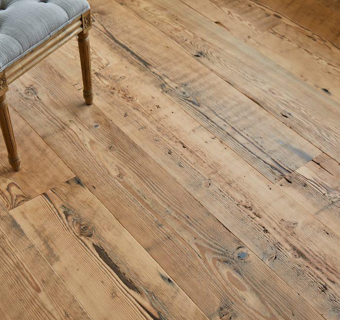 Knots and textures of douglas fir floorboards