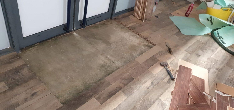 Installing reclaimed parquet flooring