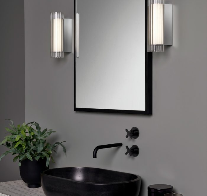 Black solid concrete sink