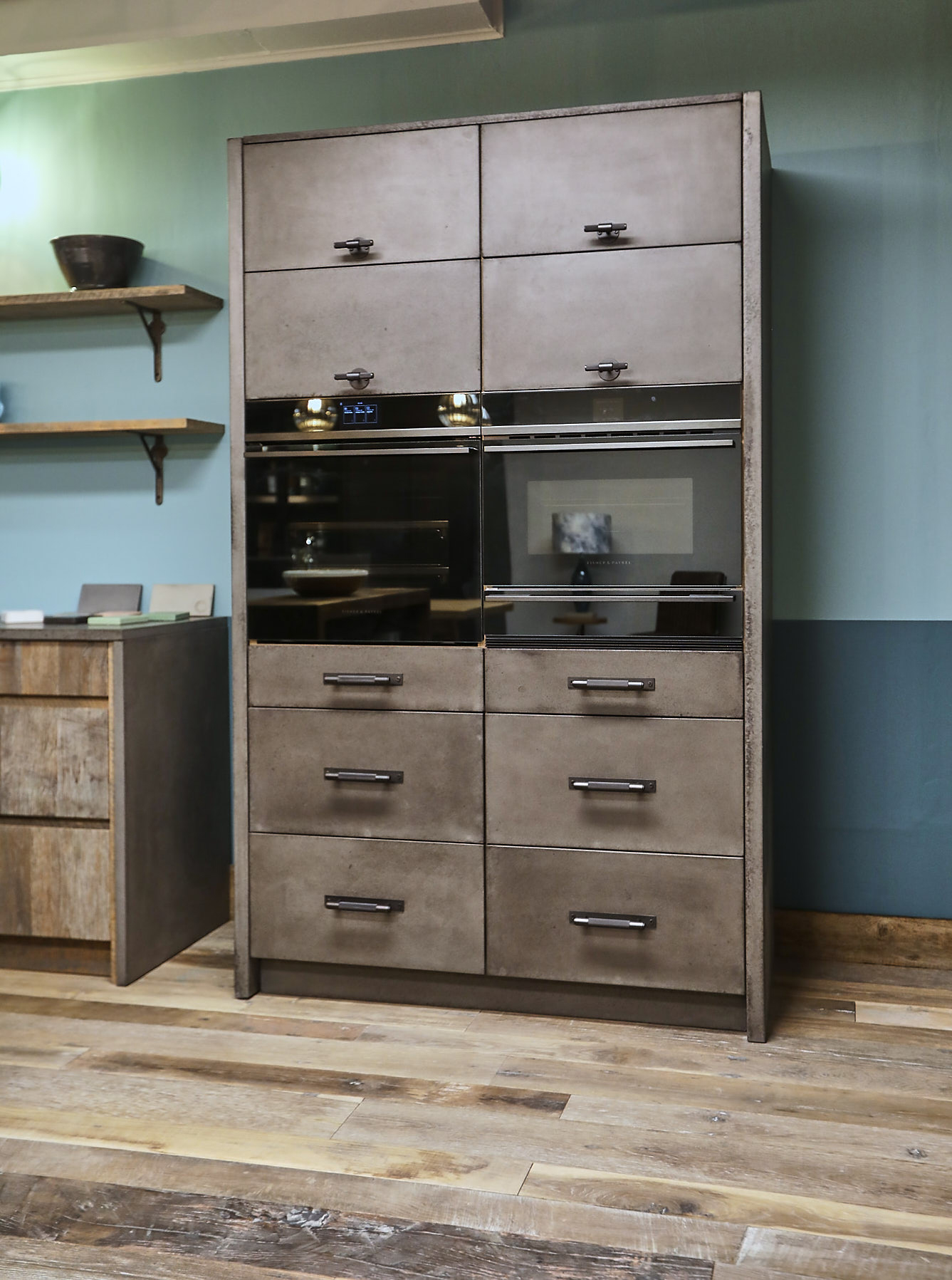 Concrete kitchen unit
