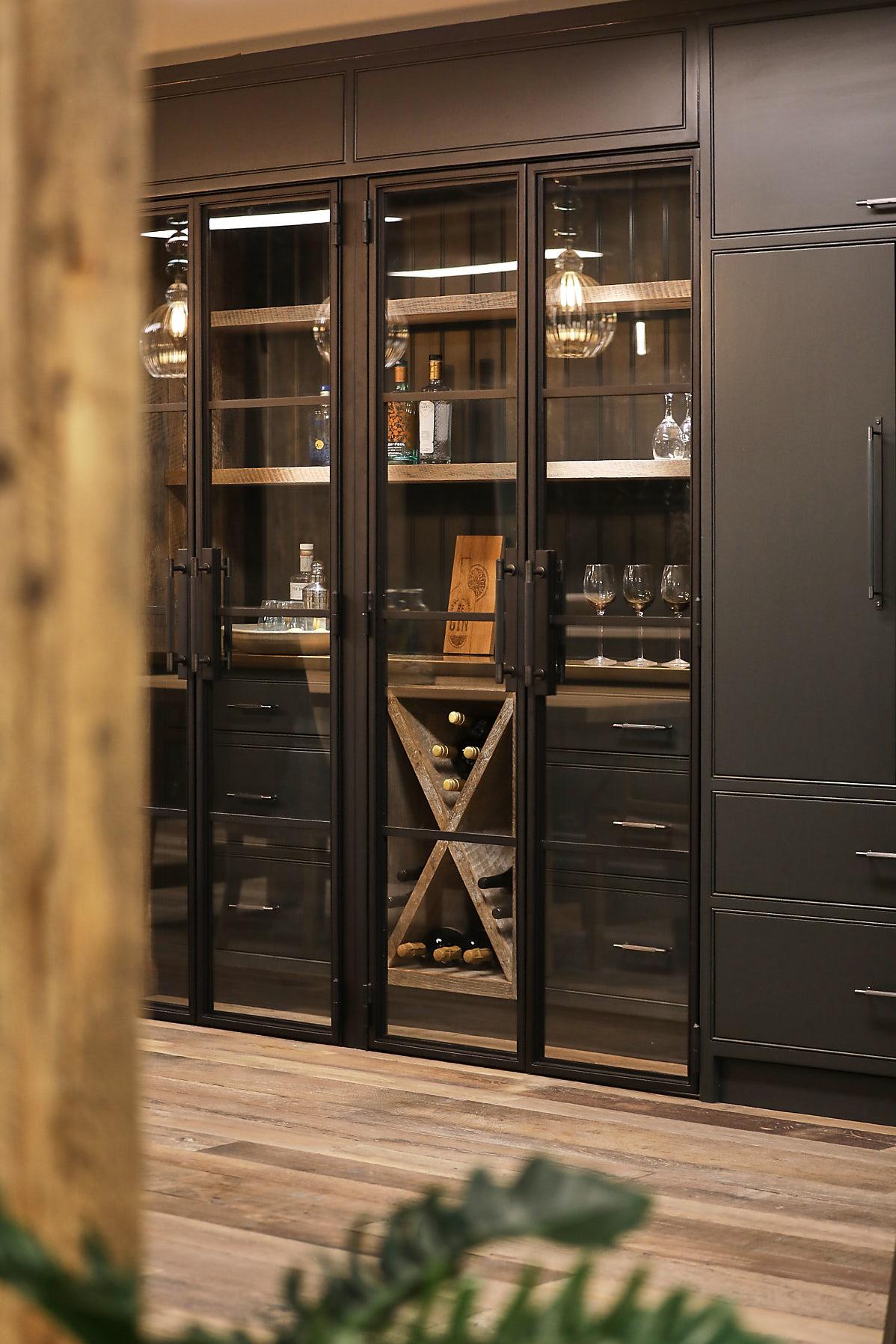 Crittal style black steel doors