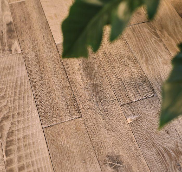 Barn oak brick flooring