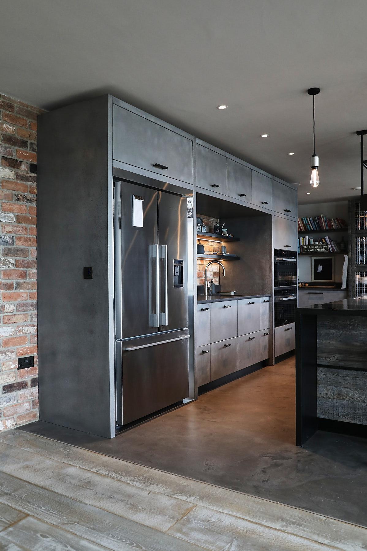 Concrete kitchen cabinets