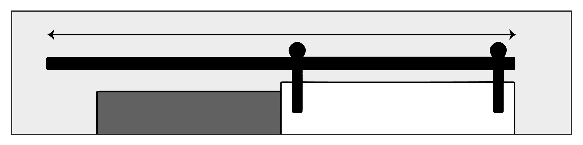 Sliding Door Rail Size Illustration