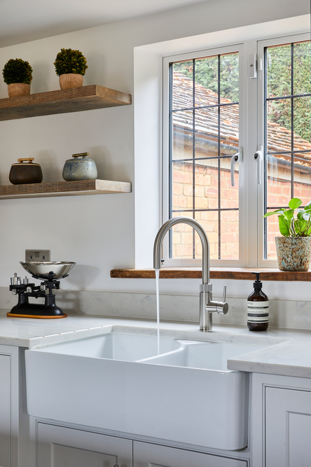 1810 ceramic Belfast sink with Quooker boiling water tap