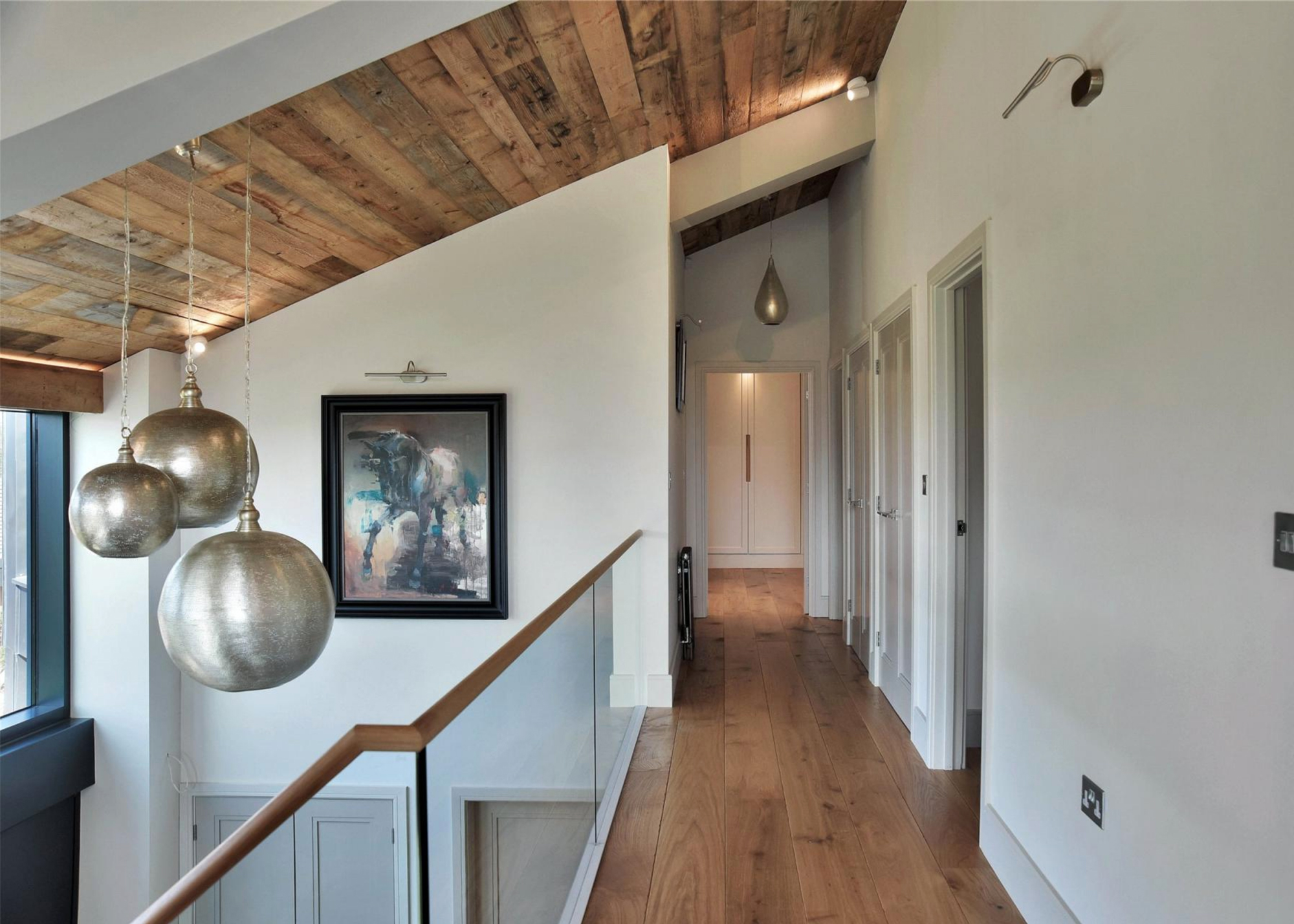 Rustic cladded ceiling