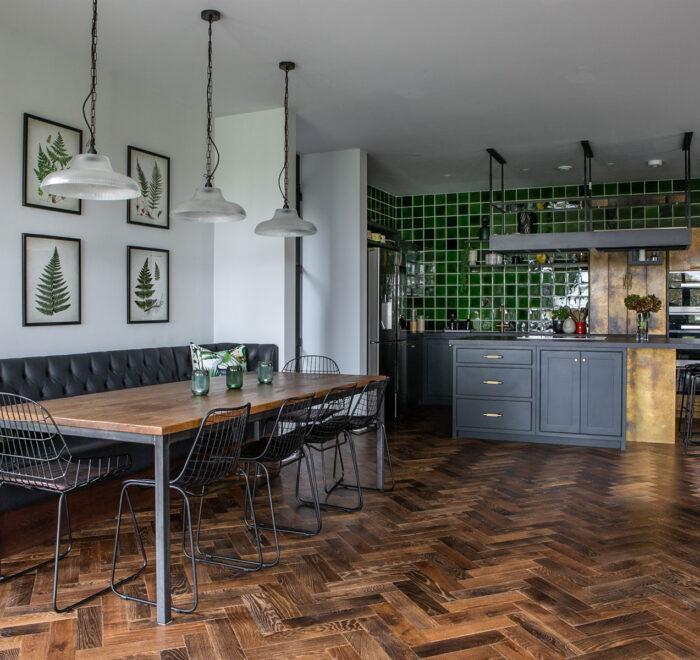 Industrial Kitchen Parquet Floor