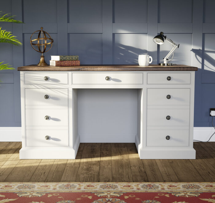 Traditional painted kneehole desk