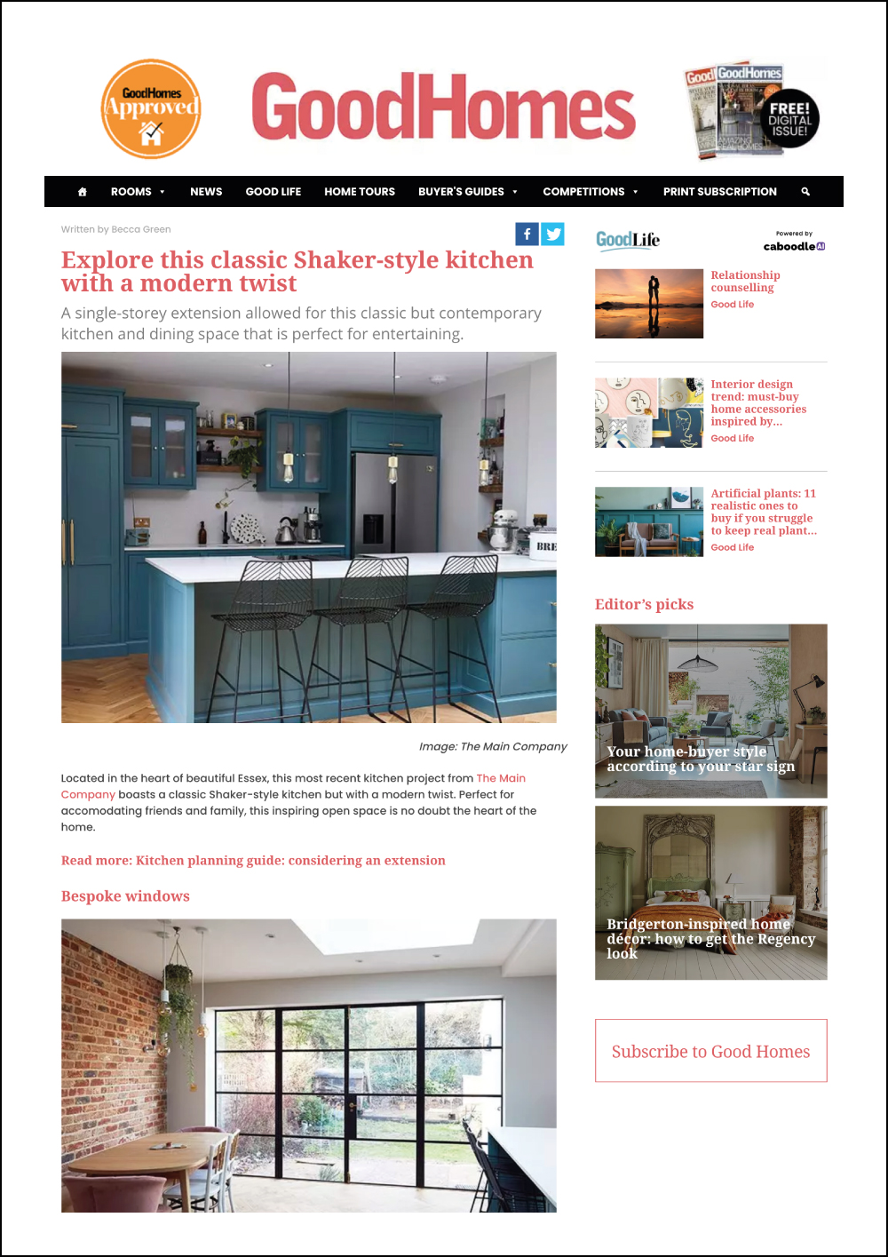 Good Homes Online Magazine
