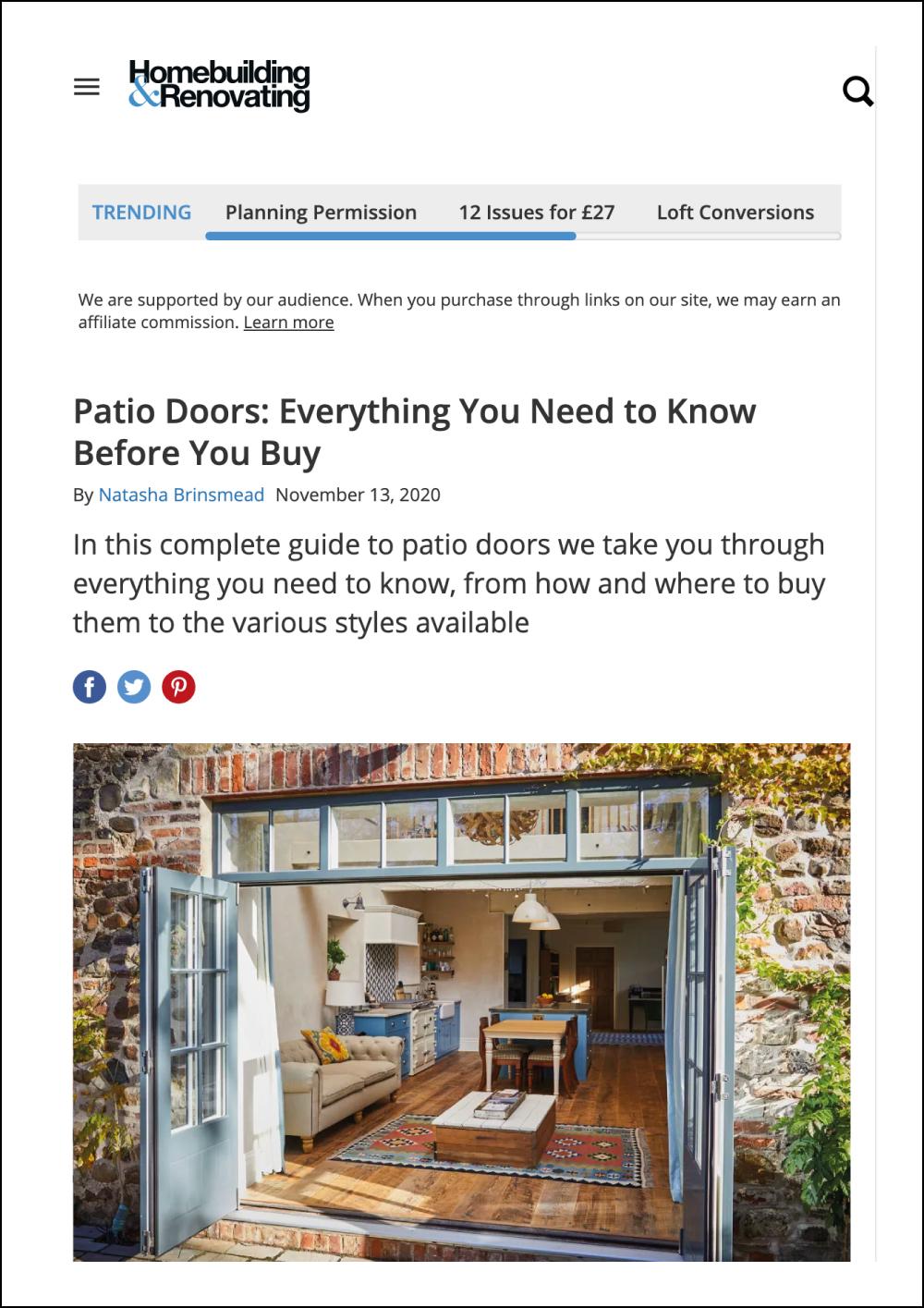 Homebuilding & Renovating Online Magazine