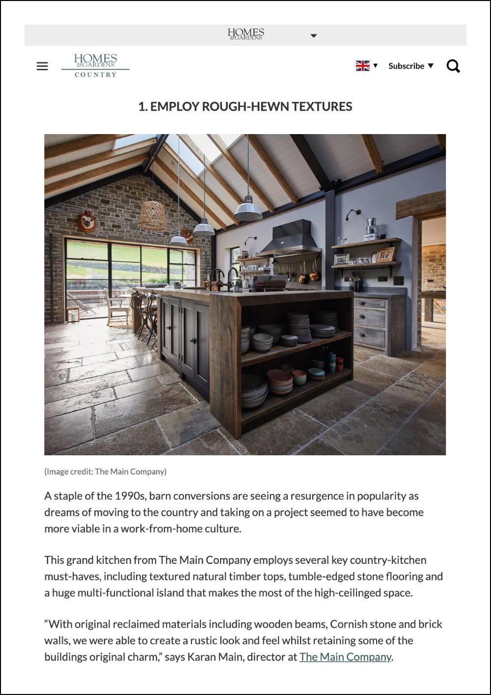 Homes and Gardens Online Magazine