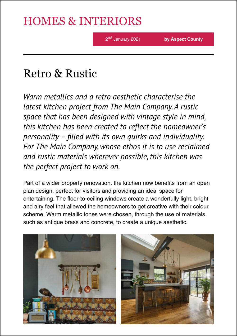 Homes and Interiors Online Magazine