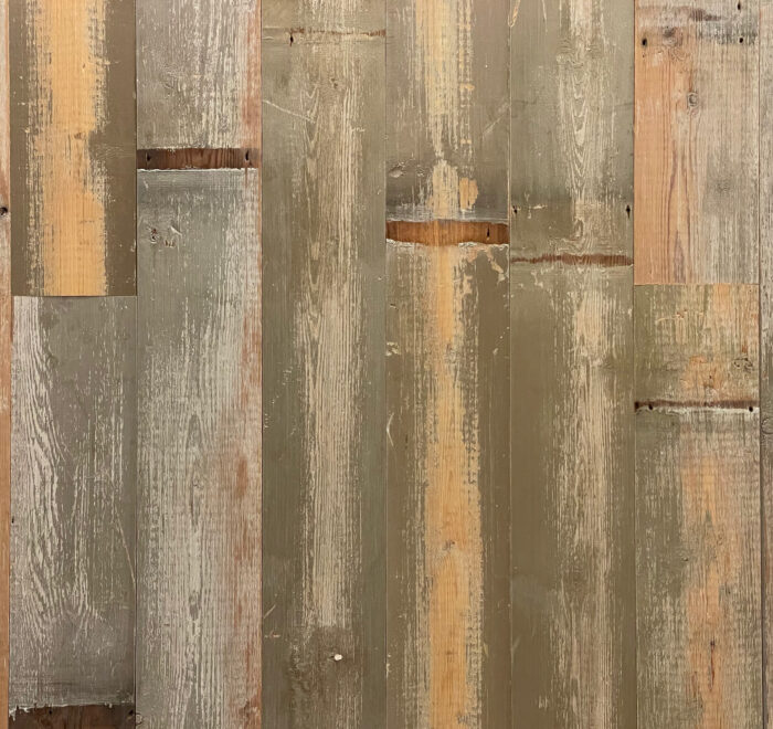Grey and Teal Reclaimed Cladding