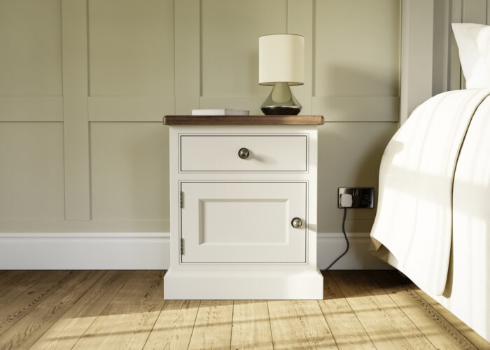 1 drawer painted bedside table
