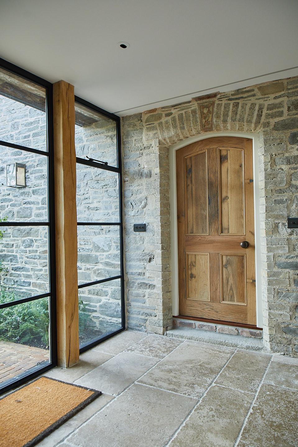 Curved Oak Internal Door
