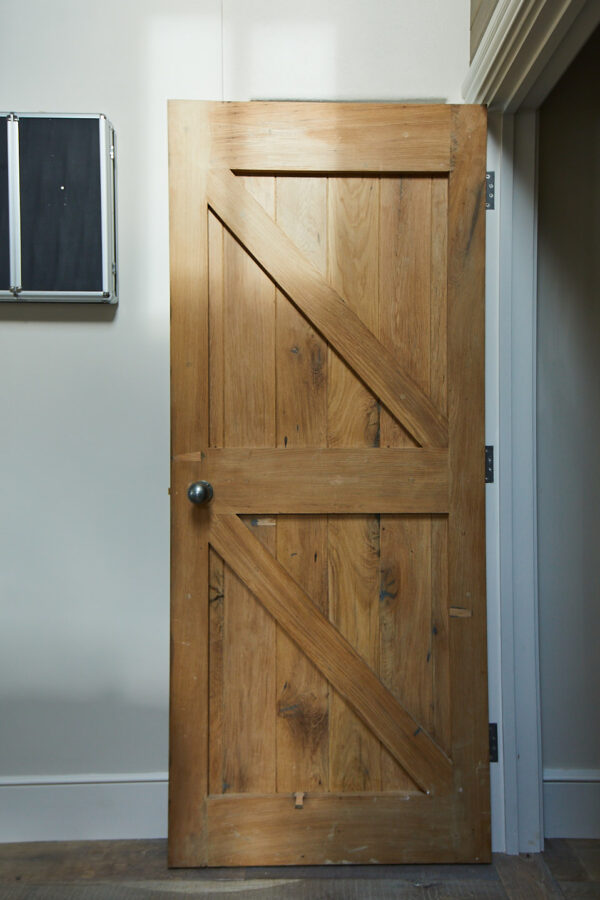 Ledge and Brace Oak Door