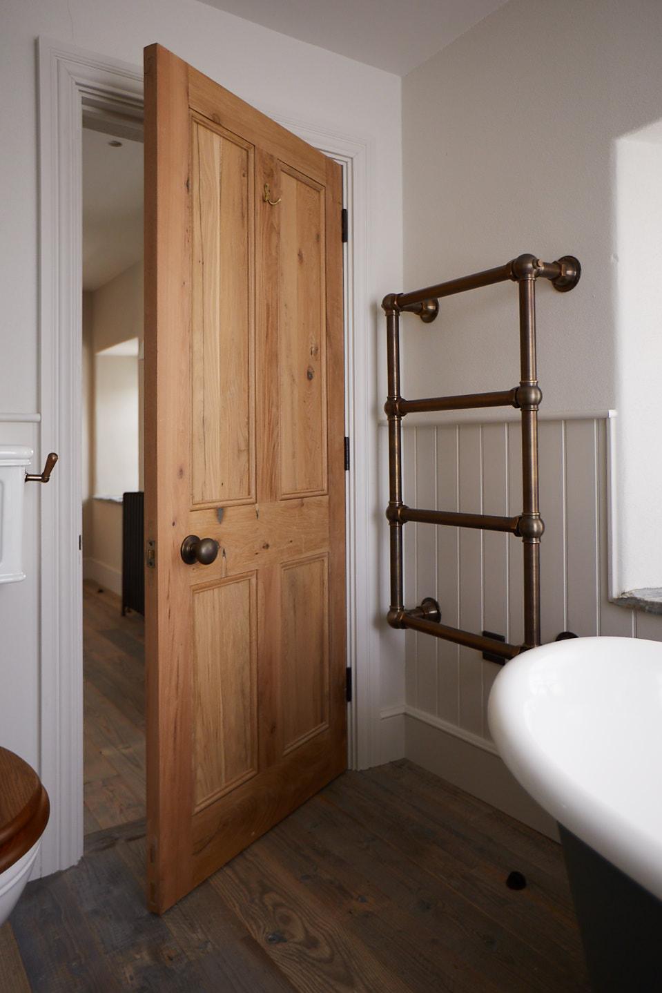 Oak Bathroom Door