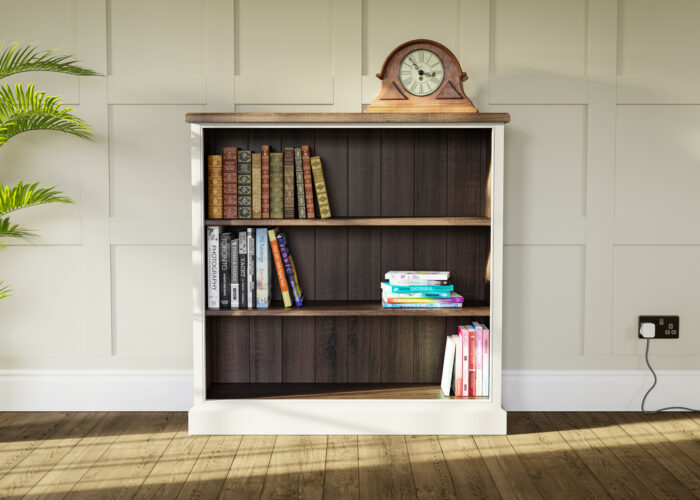 Traditional Low Painted Bookcase