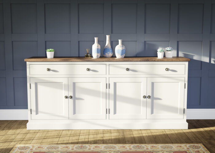 Painted freestanding kitchen sideboard