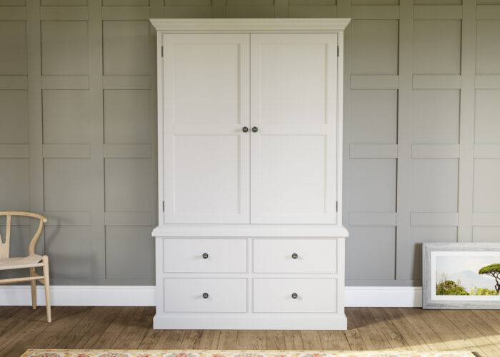 Painted traditional harness cupboard