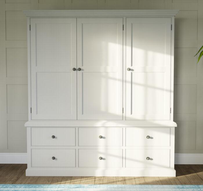 Painted bedroom wardrobe