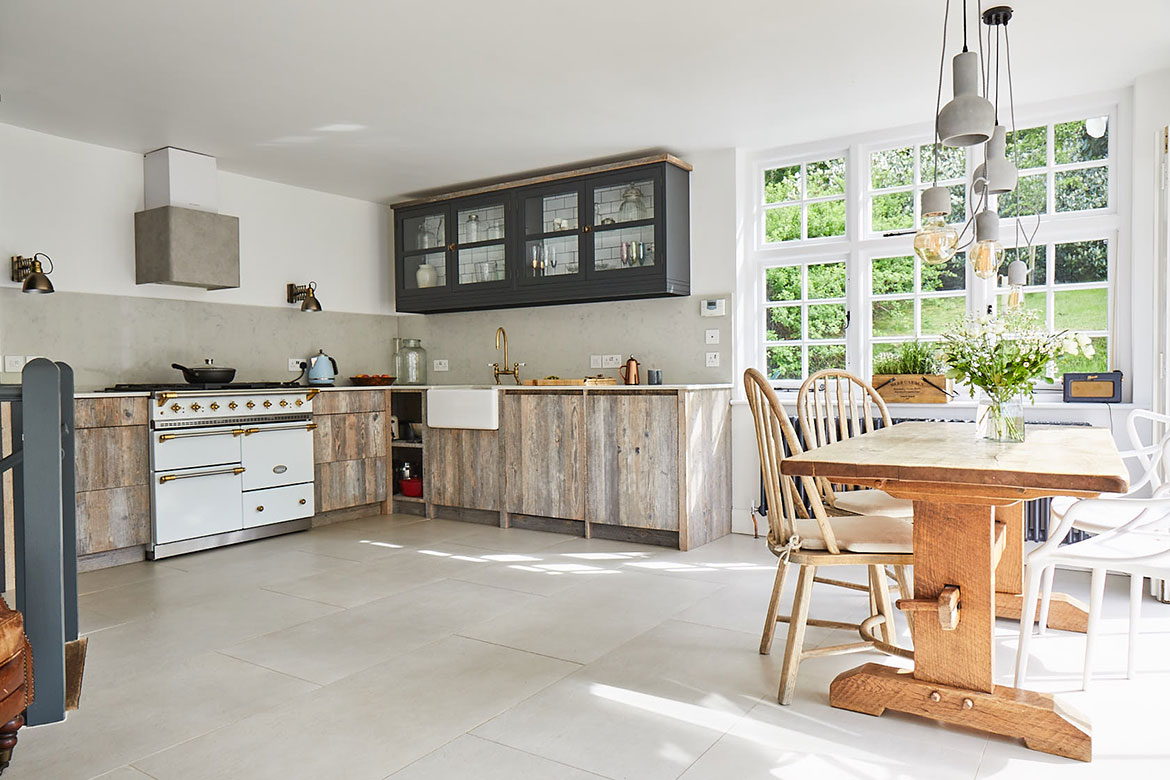 Reclaimed kitchen units
