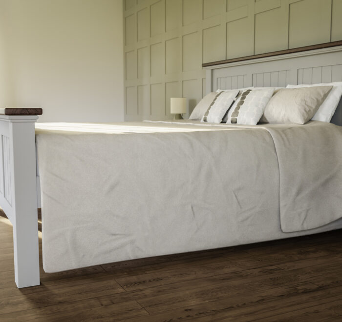 Large painted bed
