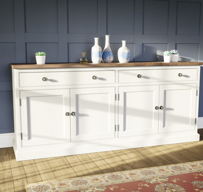 Traditional painted 6 foot sideboard