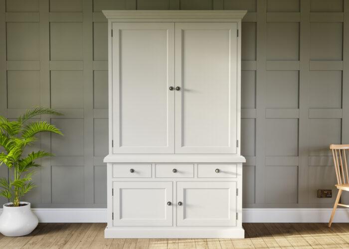 Painted double door larder