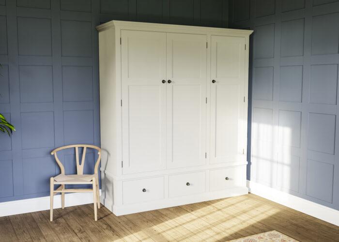 Triple painted wardrobe