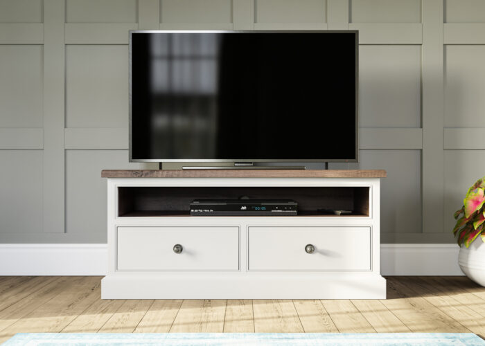 Two drawer painted tv unit