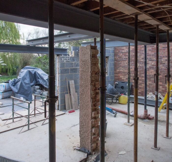 Building kitchen extension