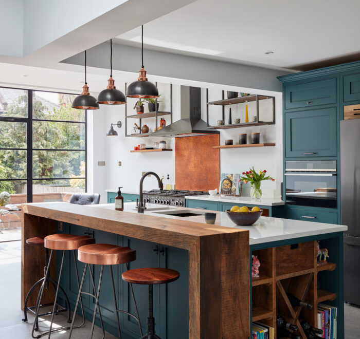 Industrial kitchen painted in Little Greene paint
