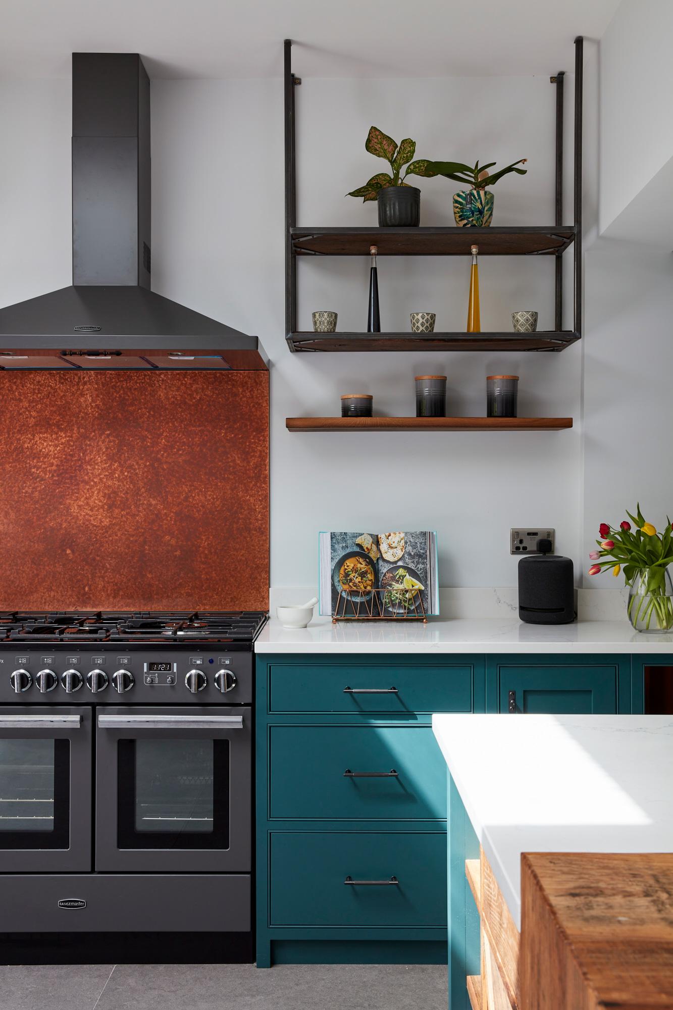 Range cooker in bespoke shaker kitchen