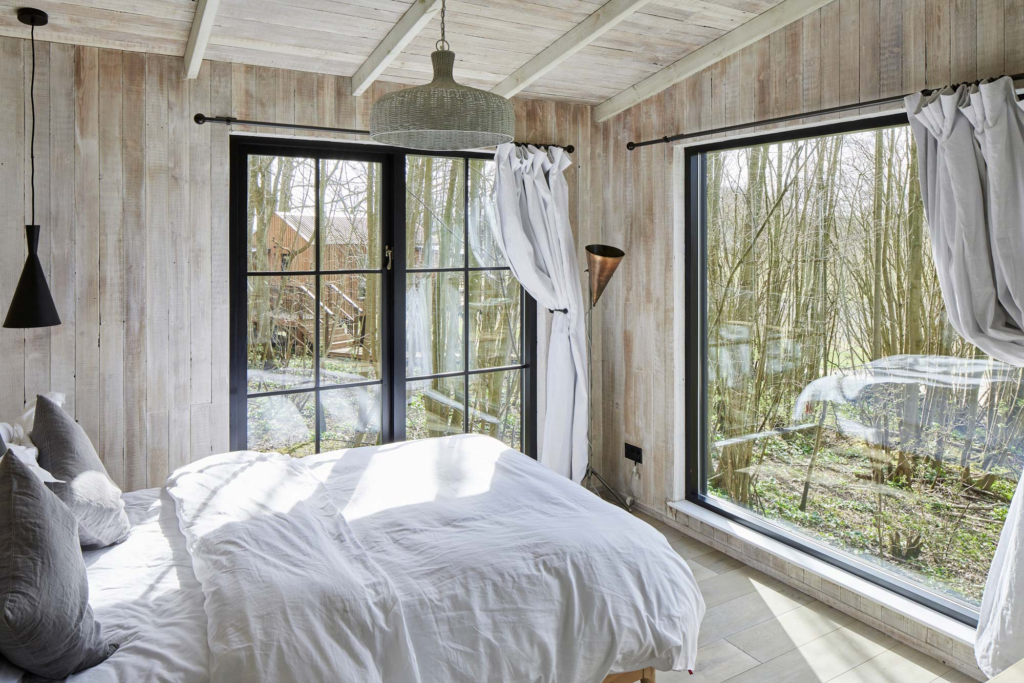 Cladded bedroom