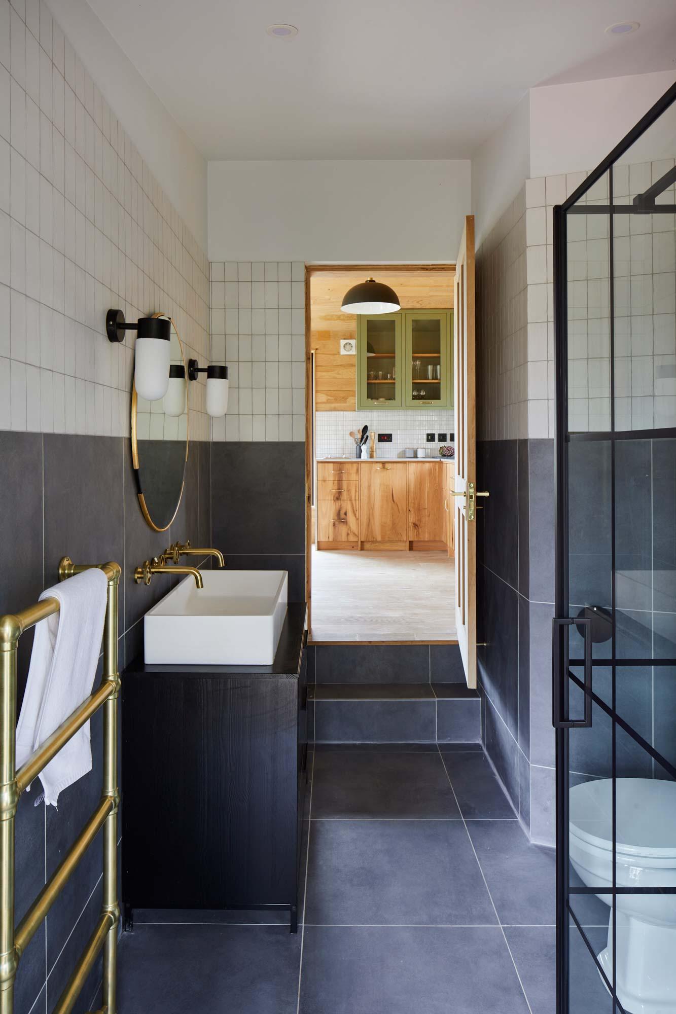Rustic treehouse bathroom