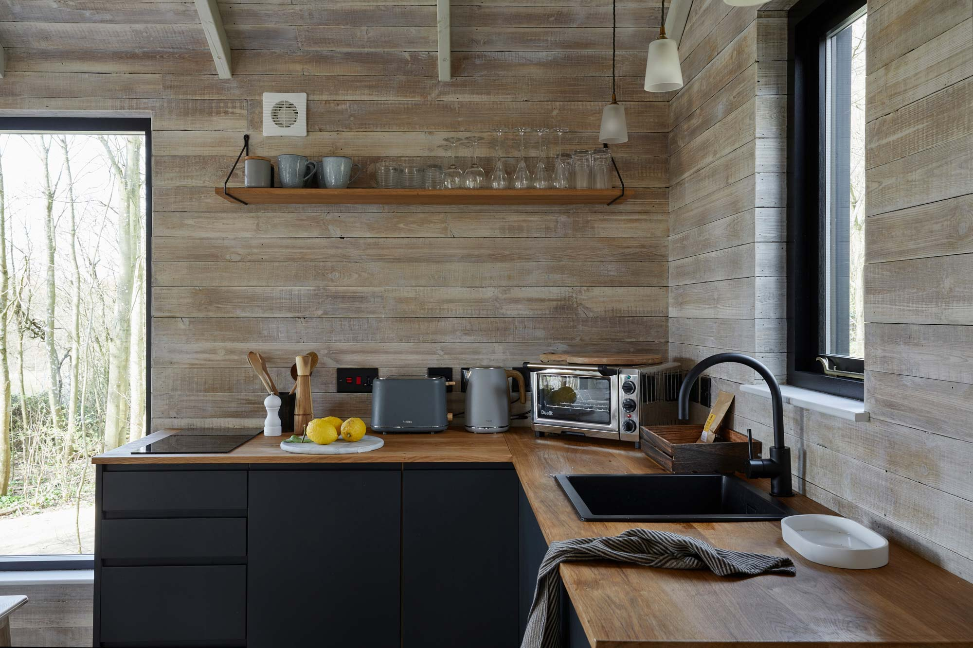 Wall cladding in kitchen